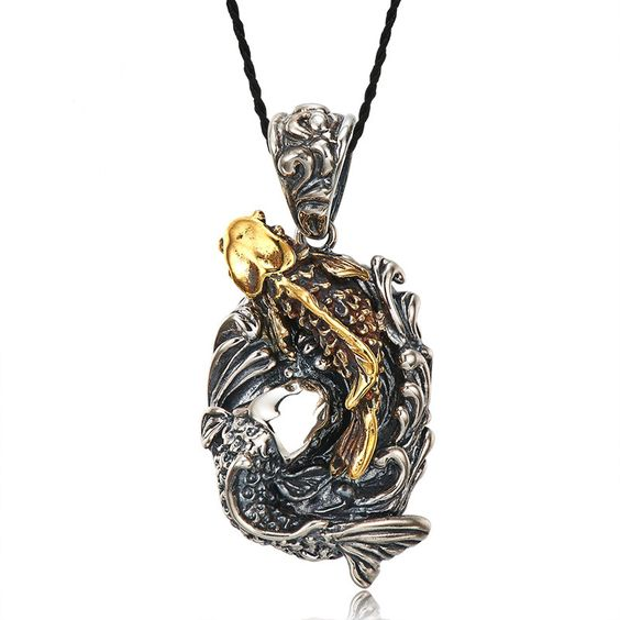 koi fish jewelry, koi fish necklace, koi fish pendant