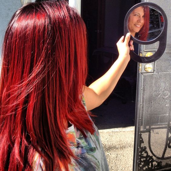 Wella color touch 66/45 (chili red)... For anyone who ever wanted to know what color red I use.