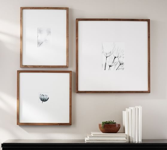 Wood Gallery Oversized Mat Frames Gallery Wall Wood Gallery Frames Frames On Wall