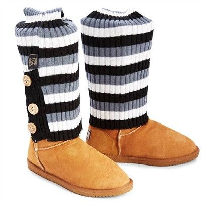 Ozsale - Chestnut Detailed Long Sheepskin UGG Boots = UGG socks for free! Shop them now, price was $249.95 and is now $119.