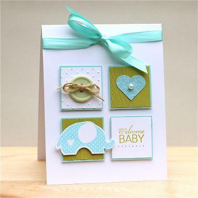 Handmade baby card idea