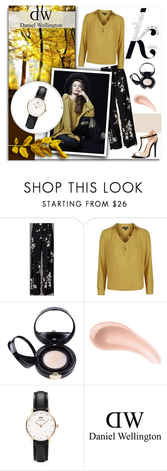 """""""Classy Sheffield 26mm (Promo Code inside)"""" by melissa-de-souza ❤ liked on Polyvore featuring Topshop, KAROLINA, Kevyn Aucoin, NARS Cosmetics, Daniel Wellington and Charlotte Russe"""