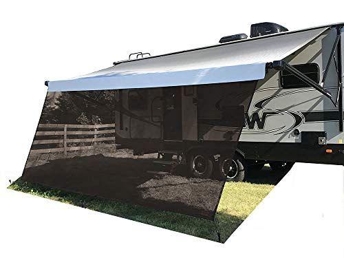Tentproinc Rv Awning Sun Shade Screen 8 X 14 3 Brown Mesh Sunshade Uv Blocker Complete Kits Motorhome Camping Trailer Cano Shade Screen Camping Trailer Rv
