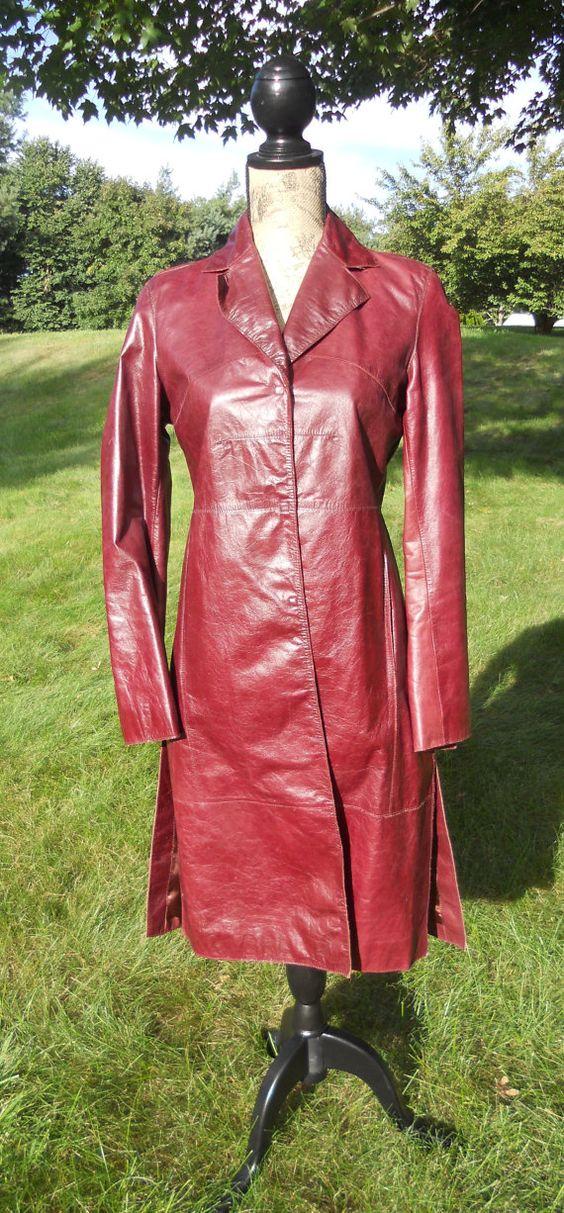 Long Leather Coat  buffy?