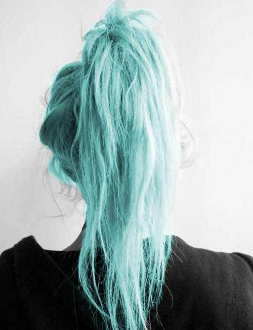 45 Stunning Hair Color Trends For Girls Hairstylesvila Aqua Hair Color Teal Hair Color Pastel Blue Hair