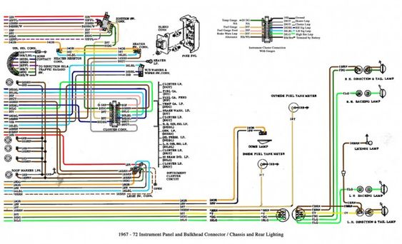 1967-72 Chevy truck Cab and chassis wiring diagrams