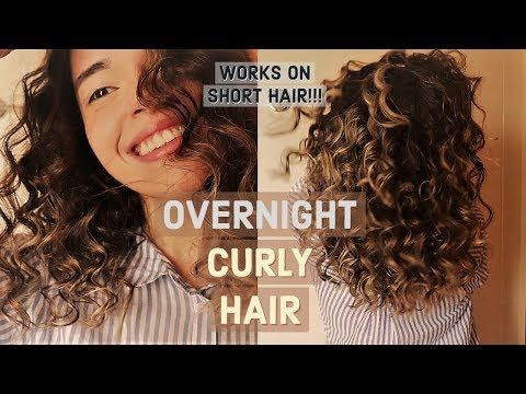 Heatless Curls For Short Hair How To Get Super Small Curls Youtube How To Curl Short Hair Super Curly Hair Overnight Curls Short Hair