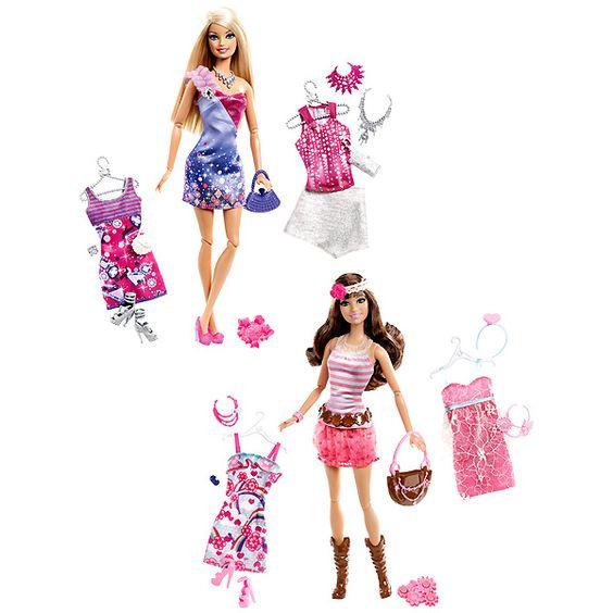 Barbie y Teresa Fashionistas (con complementos)