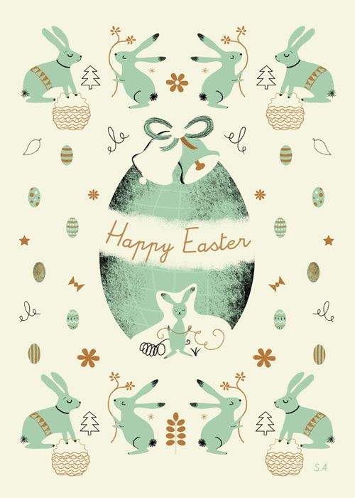 My Vintage Avenue !!! 50's and 60's illustrations !!!: My illustration for Easter !!! :)