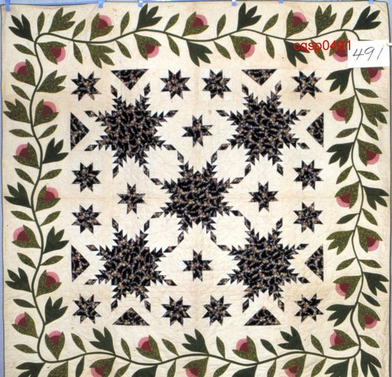 Feathered Star Quiltmaker: Potter, Emily Charlotte[1850-1875]   Connecticut Quilt Search: Connecticut Quilt Search Project