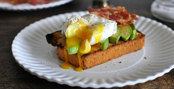 Toasted Beer Cornbread with Avocado, Crispy Pancetta and Poached Eggs: http://aol.it/1D4Z7Yt