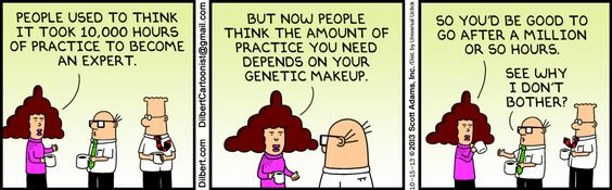 The Dilbert Strip for October 15, 2013 Dilbert on the 10,000 hour rule