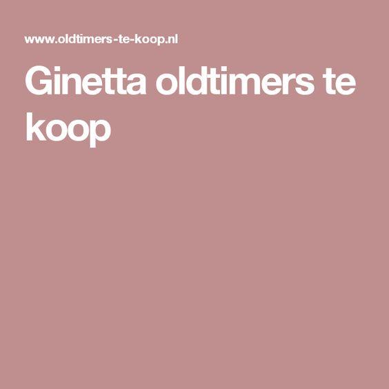Ginetta oldtimers te koop