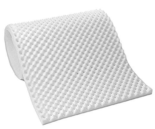 Vaunn Medical Premium White Egg Crate Convoluted Foam Mattress Pad Topper Hospital Bed Twin Size Review Foam Mattress Foam Mattress Pad Mattress Pad