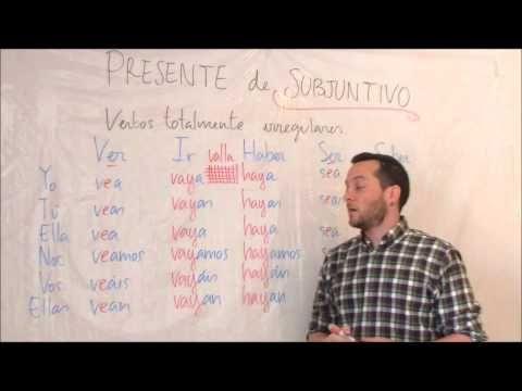"""""""Presente de subjuntivo verbos irregulares IV"""" Spanishfspain"""