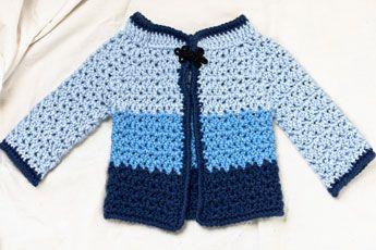 Free Crochet Pattern For Kimono : baby kimono sweater crochet childrens/baby sweaters ...