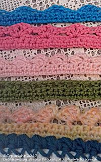 Punto Crochet All Uncinetto.Creations By Serenapaliria Uncinetto Bordini Punto Ag Crochet