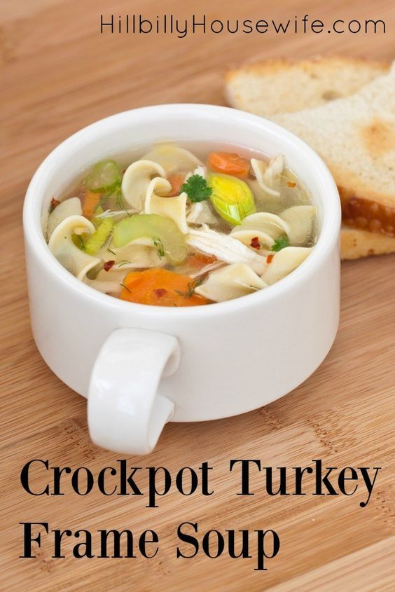 Crockpot Turkey Frame Soup Remove All Homemade And Turkey