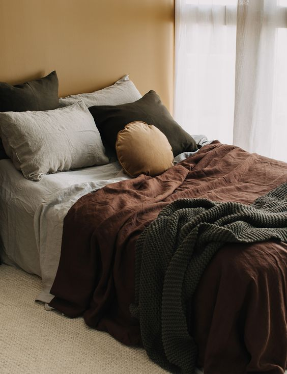 Alex Walls shows us why browns and caramel are perfect for the bedroom