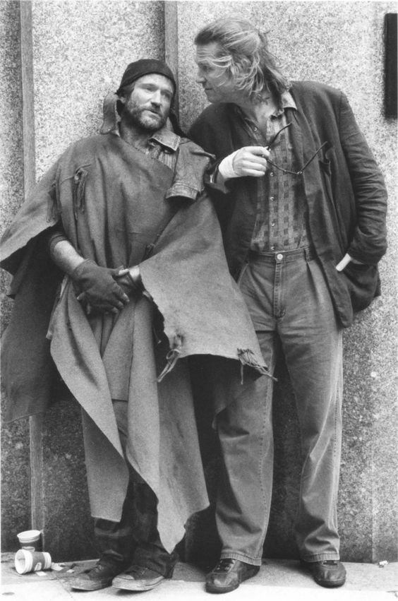 Robin Williams and Jeff Bridges in 'The Fisher King', 1991 (II):