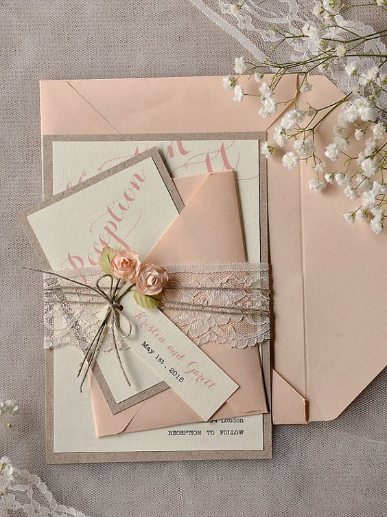 Hey, I found this really awesome Etsy listing at https://www.etsy.com/listing/204008265/peach-wedding-invitations-20-wedding