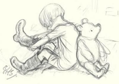 """Ernest Shepard - the """"real"""" Pooh artist    *Our own Christopher Robbin is all grown up and soon to be a new Daddy."""