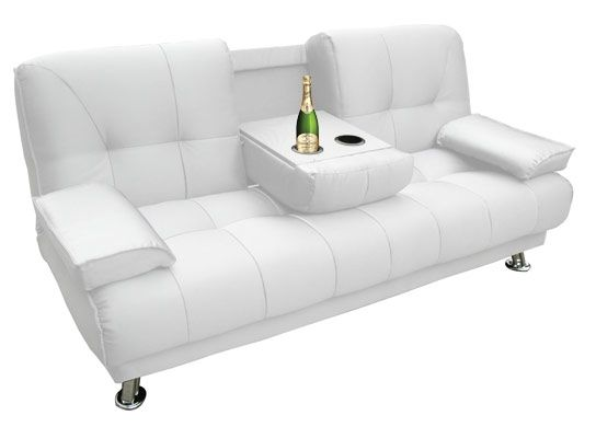 Convertible Simili Cuir Blanc Bar Avec Images Canape