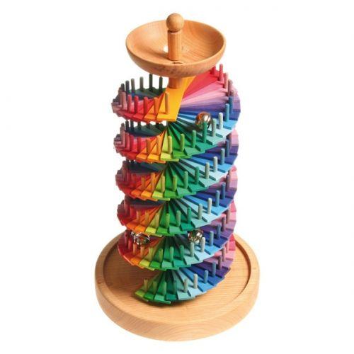 [Grimm's Spiel & Holz Design グリムス社]組み立て玉の塔 ドイツ・グリムス社の組み立て式の木製クーゲルバーン(スロープトーイ)です。カラフルな玉の塔と組み立てましょう!