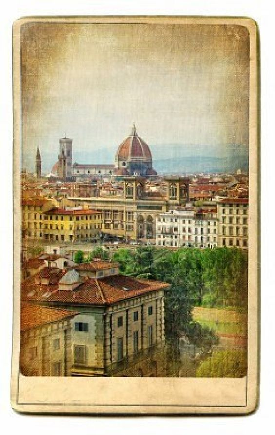 Old postcard, Florence