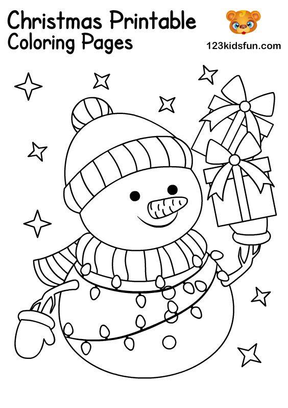 Free Christmas Printables For Kids 123 Kids Fun Apps Snowman Coloring Pages Free Christmas Coloring Pages Christmas Coloring Books
