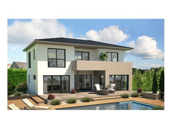 Stadtvilla modern mit balkon  Terassenüberdachung, aber umgekehrt, Top Star S 148 ...