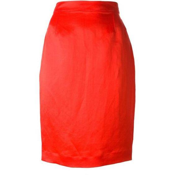 Lanvin Long Zip Pencil Skirt as seen on Jennifer Garner