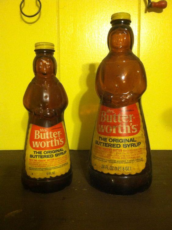 Vintage Mrs. Butter Worth's bottles
