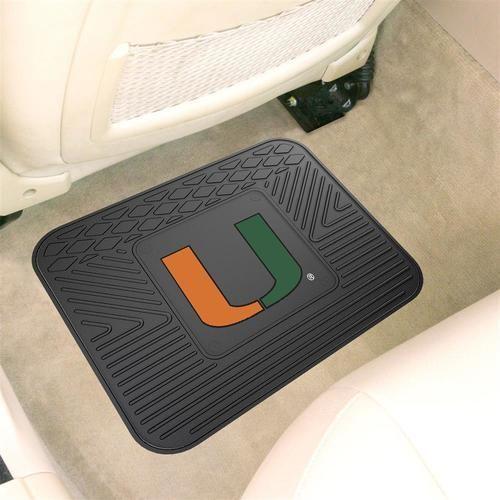 University of Miami Hurricanes One Car Auto Rear Rubber Floor Mat ...