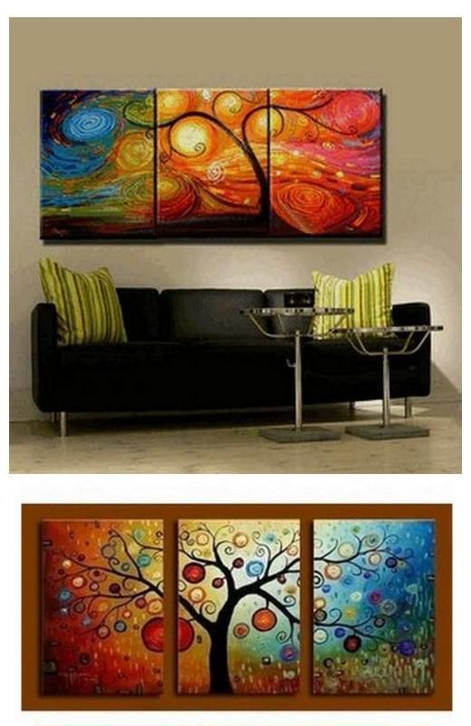 Abstract Painting Canvas Painting Living Room Wall Art 3 Piece Canvas Art Tree Of Life Painting Colorful Tree 3 Piece Canvas Art Canvas Painting Living Room Art
