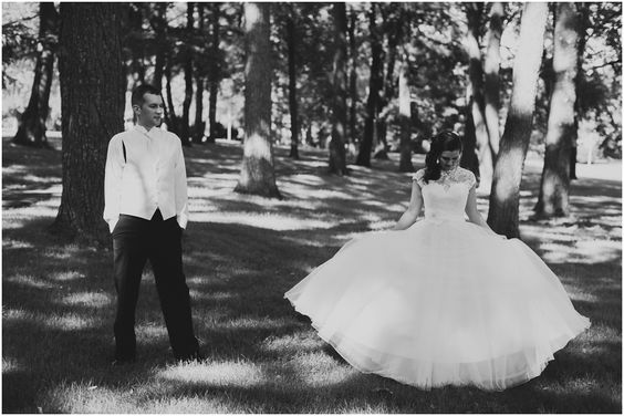 Love her Allure dress. She looks like a princess!  Lauren &  Will // Married at the Duportail House