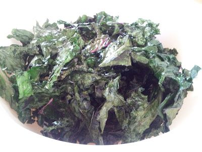 Honest & Truly! recipes - baked kale chips