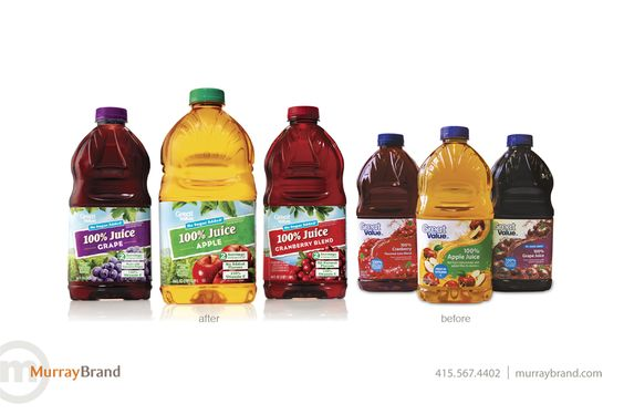Walmart Great Value Juice (Redesigned) #marketing #design #redesign