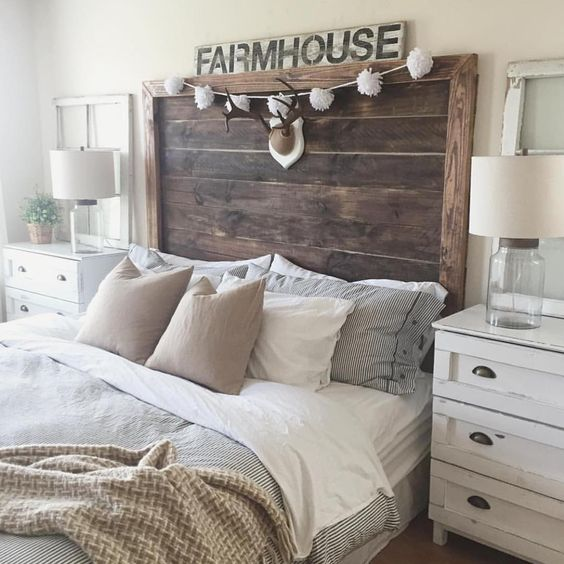 We have loved seeing all the beautiful bedrooms this week for Farmhouse bedroom decor