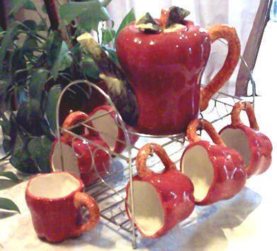 Red Apple Teapot / Tea Set · Kitchen Ideas ApplesApple Decorations ...