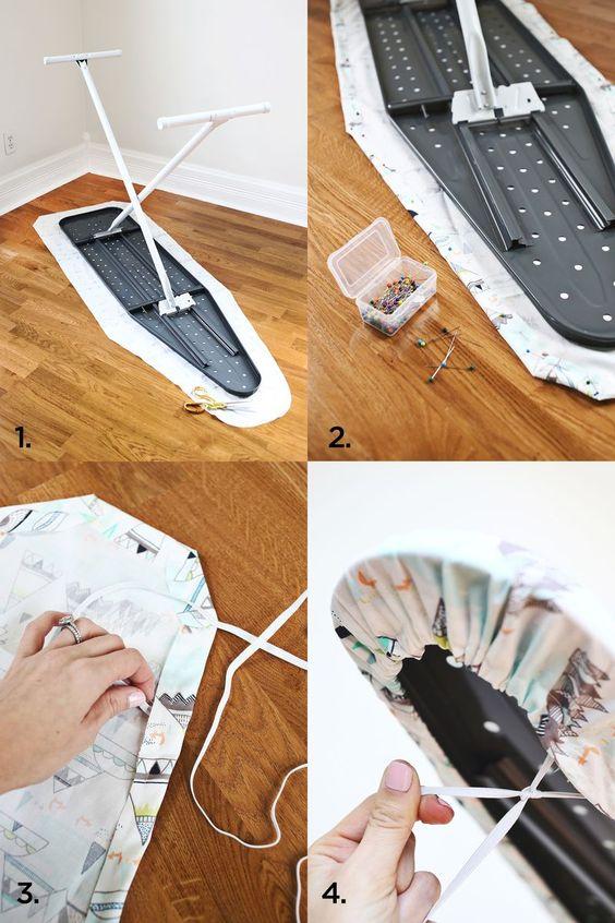 Ironing Board Cover DIY abeautifulmess.com @Elsie Larson of A Beautiful Mess