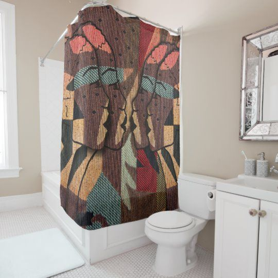 African Tapestry Shower Curtain Zazzle Com In 2020 With Images
