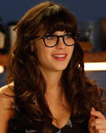 Zoeey-new-girl-eye-glasses-makeup.jpg (360u00d7450) | MODA | Pinterest | Texting Glasses And See You