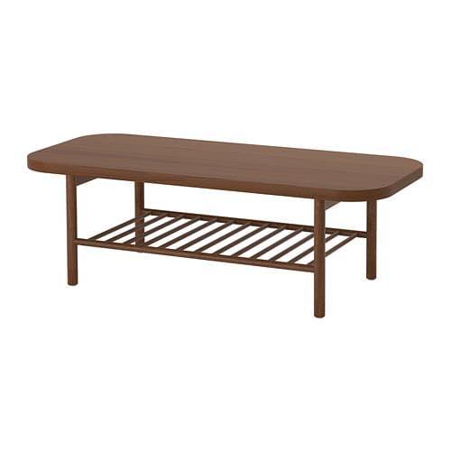 Listerby Table Basse Brun Brun 140x60 Cm Table Basse Table De