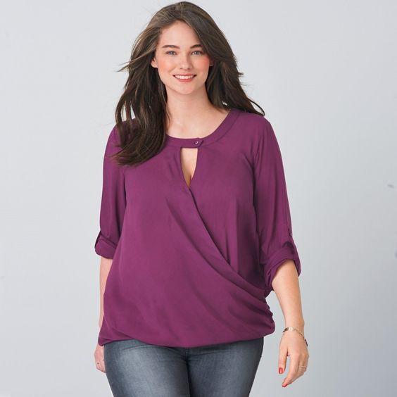 Blusa traçada, plus size, Taillissime   La Redoute