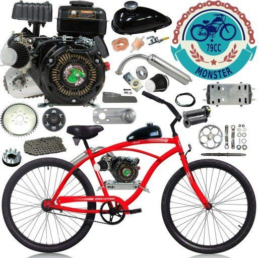 Chain Drive 79cc 4 Stroke Motorized Bicycle 26 Inch Micargi Men S