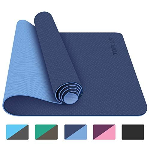 Ewedoos Eco Friendly Yoga Mat With Alignment Lines Tpe Yoga Mat Non Slip Textured Surfaces In 2020 Yoga Mats Best Mat Exercises Floor Workouts