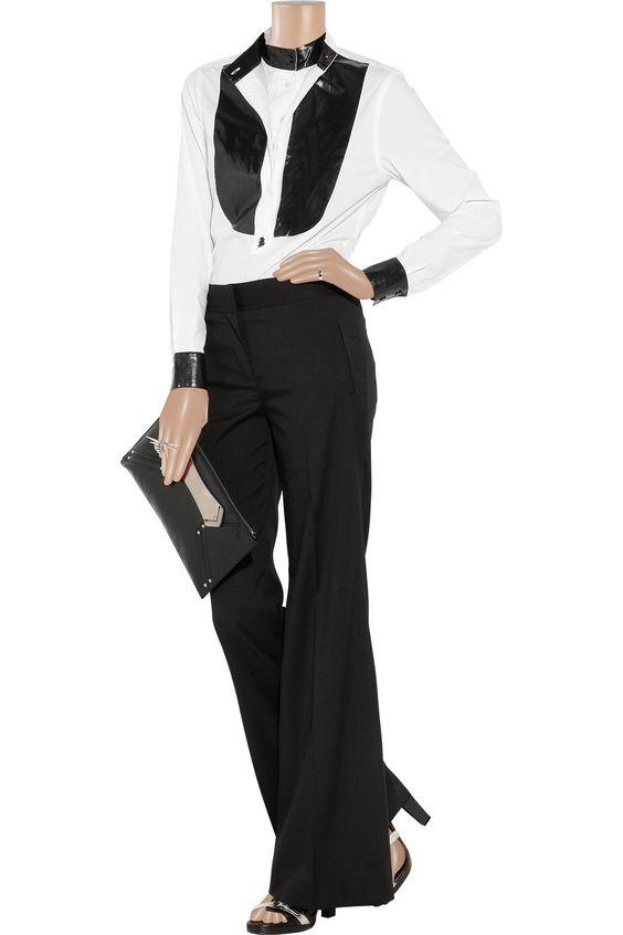 Twill wide-leg pants by Karl Lagerfeld