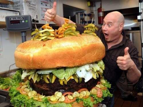 huge burger #food #fun