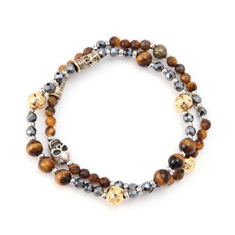 RS Frascati Classic, #gentle#brown#tiger-eye#gemstone#16k#gold#brass#luxury#bracelet#brand#raresome#homme